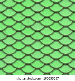 A seamless tile of green scales.  They could be dragon scales or armor.