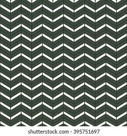 Seamless timber green interchanging chevrons pattern