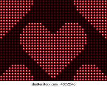 Seamless Valentine's day love heart light panel.