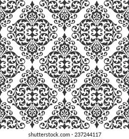 Seamless vintage ornate victorian pattern