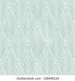 Seamless Vintage Wallpaper Pattern On Paper Texture Stencil Background