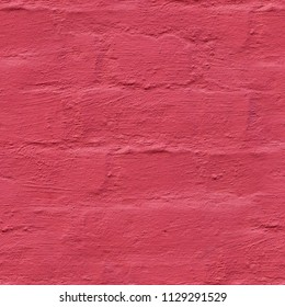 seamless wall of brick painted red background. texture.