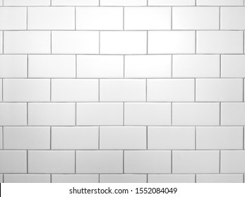 Seamless white bathroom wall tiles. Pattern, brick texture for background