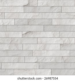 seamless white brick wall