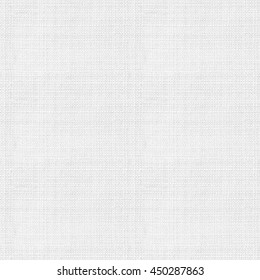 Seamless white canvas fabric texture wallpaper background.