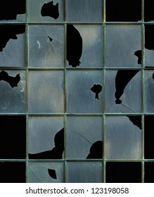 seamless window with broken glass texture