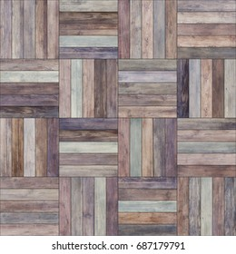 Seamless wood parquet texture (basket old)
