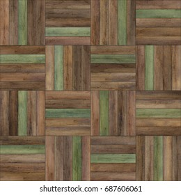 Seamless wood parquet texture (basket various)