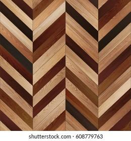 Seamless wood parquet texture (chevron various)