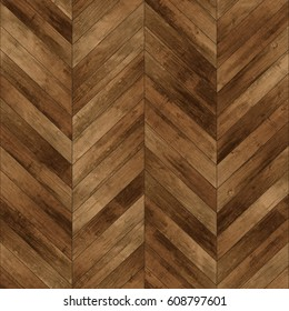 Seamless wood parquet texture (chevron old)