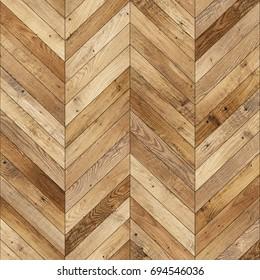 Seamless wood parquet texture (chevron light brown)