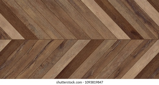 Seamless wood parquet texture (horizontal chevron brown)