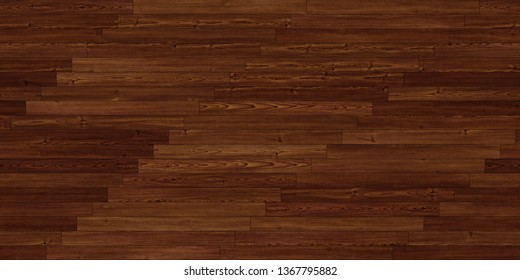 Seamless wood parquet texture (linear dark brown)