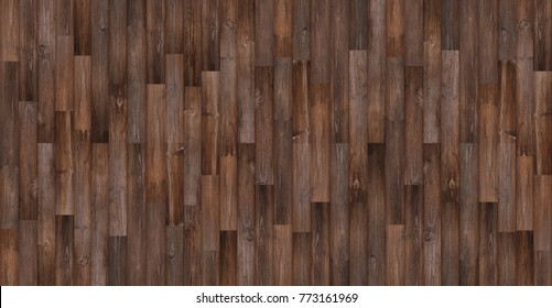Seamless wood texture background, Panoramic dark wood floor texture