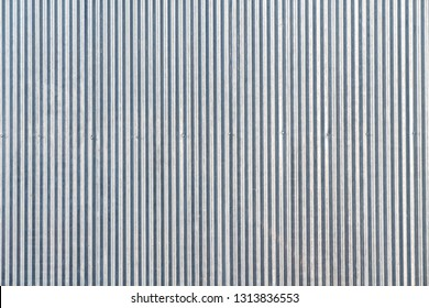 Seamless zinc pattern facade in gray color / architecture / seamless pattern / wallpaper concept