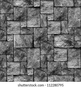 Seamlessly stony wall background - texture pattern for continuous replicate. See more seamless backgrounds in my portfolio.