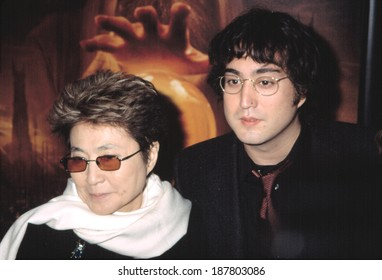Sean Lennon and Yoko Ono at the premiere of THE LORD OF THE RINGS THE TWO TOWERS, 12/5/2002