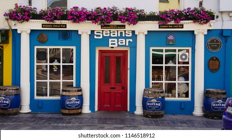 Seans Pub in Athlone Ireland in July of 2018. This pub claims to be the oldest pub in Ireland.