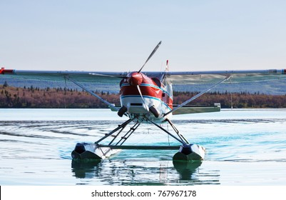 Seaplane in Alaska. Summer season.