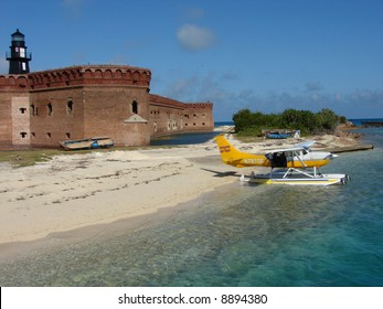 Seaplane at Fort Jefferson in the Dry Tortugas National Park