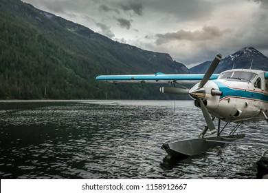 Seaplane on an alaskan lake