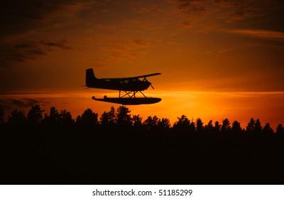 seaplane silhouette