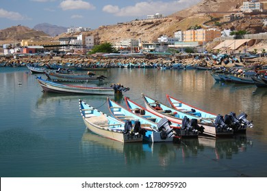 The seaport of Al-Mukalla, Yemen. The city is located in the southern part of Arabia on the Gulf of Aden, on the shores of the Arabian Sea