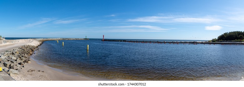 Seaport in Mrzezyno - Poland Baltic Sea - Shutterstock ID 1744307012