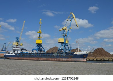 seaport in Wismar, mecklenburg western pomerania, germany,april-30-2017