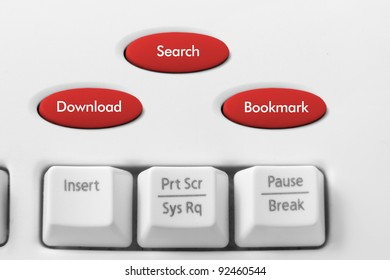 Search Engine Concept with Keyboard