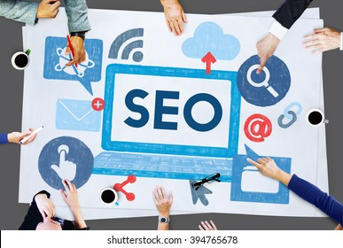 Search Engine Optimization Business Data Digital Concept