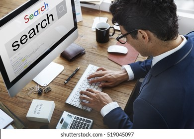 Search Engine Optimization Research Information Technology Concept