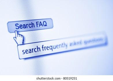 search FAQ button in browser