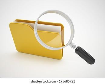search file folders or computer bug icon