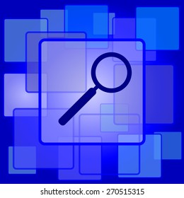 Search icon. Internet button on abstract background.