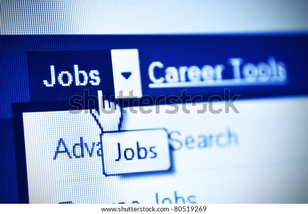 search jobs using internet- detail of web page