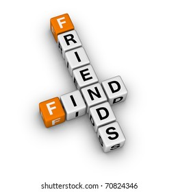 search new friend (3D crossword orange series)