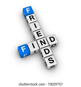 search new friend (cubes crossword puzzle)
