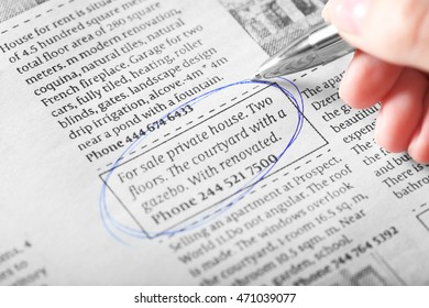 Search newspaper advertisements for information