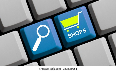 Search for Online Shops - Symbols on Computer Keyboard