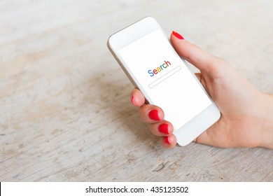 Search website on smartphone