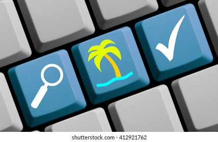 Search for your vacation online and book easily