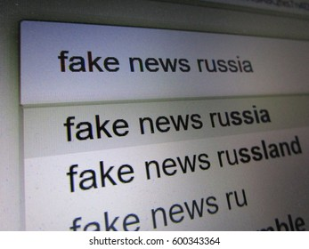 Searching for Fake News Russia in Internet