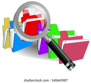 searching folders len  magnify