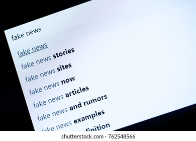 Searching online and checking fake news with search engine