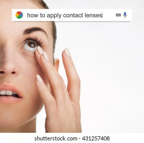 Searching the web for information about how apply contact lenses