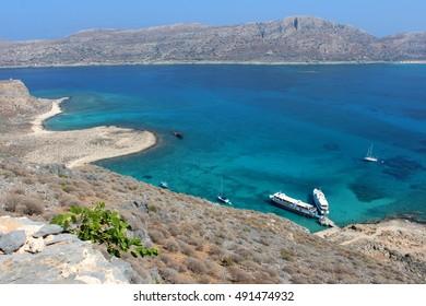 Seas merger. Crete. Greece.