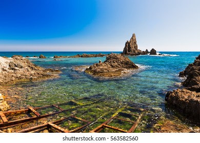 Seascape in Almeria, Cabo de Gata National Park, Spain