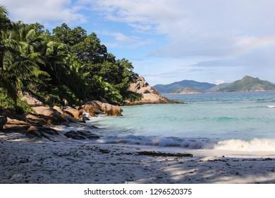 Seascape Along the Coast of La Digue, Seychelles