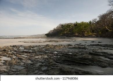 Seascape along coastline in San Jose Costa Rica